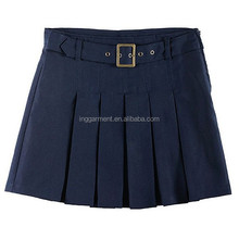Cotton Poly Twill School Uniform Summer Short Skirt