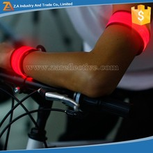 Glow in Dark Reflecting at Night Flashing Personalized PVC Slap Bracelet For Driver Outdoor Activities