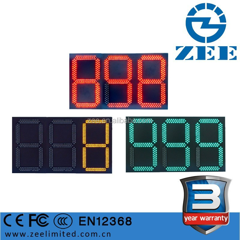 3 years warranty Traffic LED Countdown Timer, 3 digits and 3 colors Countdown Traffic Lights, 555 timer Traffic Light