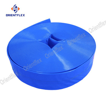 high quality blue PVC lay flat water discharge well hose