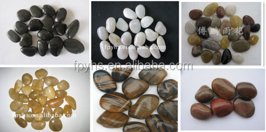 high polished white pebbles