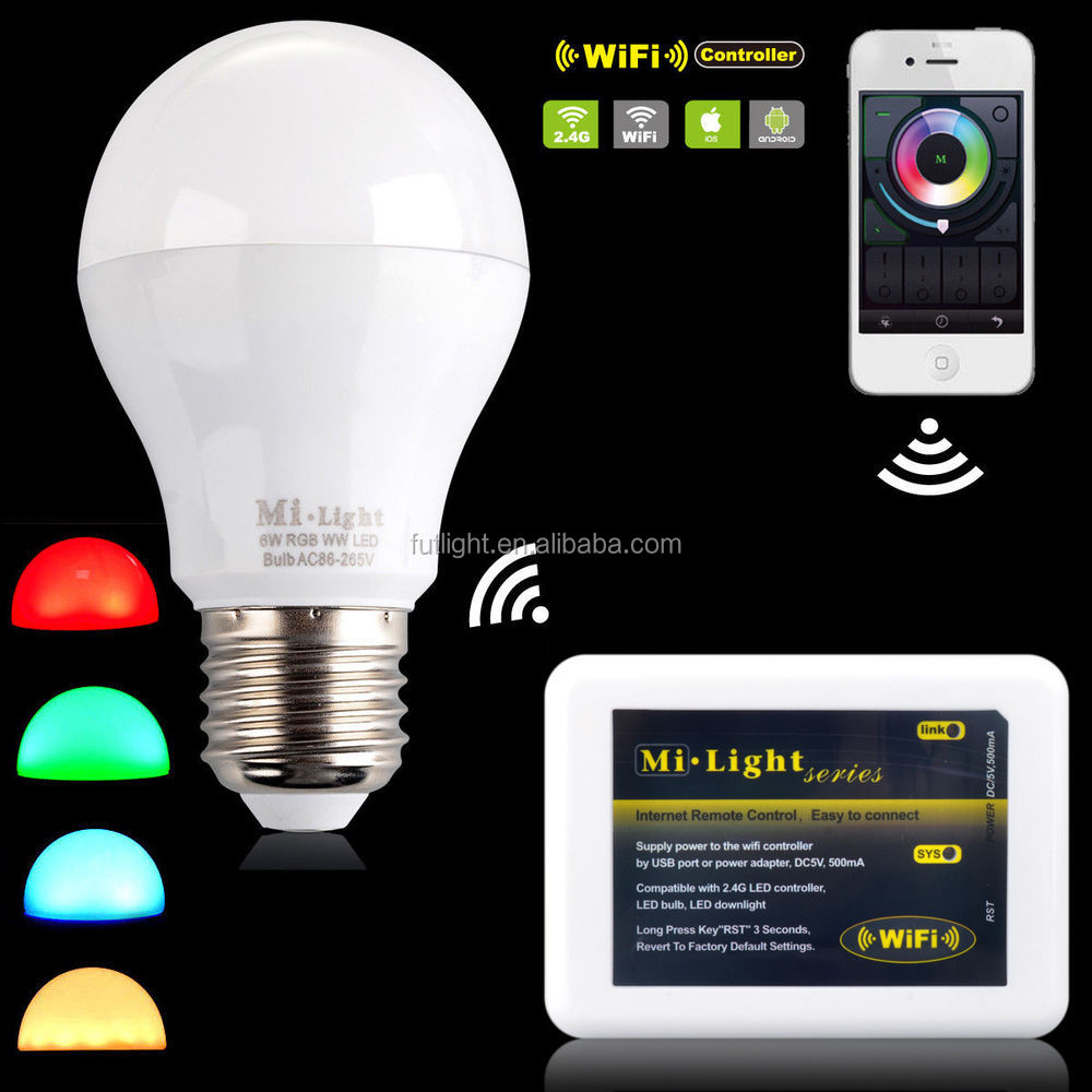 most searched products low price hot selling smartphone app control indoor decoration 6w rgbw led lamp