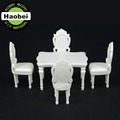 Architectural scale model dining room furniture sets