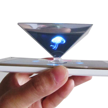 Advertising 3D pyramid hologram showcase for smartphone projector display factory of mini 3d hologram projector