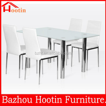 2016 high quality modern simple 4 person dining table and chair