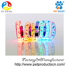 GLOW - USB Rechargeable LED Dog Safety Collar - Improved Dog Visibility & Safety - 7 Colors & 5 Sizes - Super-Bright LED's Glow