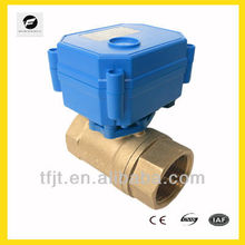 3v 6v 12v 24v 110v 220v 3 way brass motorized ball valve for HVAC system