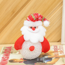 Christmas Tree Decoration 3D LED Flashing Light Hanging Santa Claus Christmas Tree Snowman and Santa