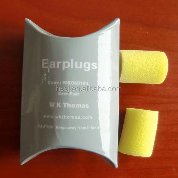2016 new safety ear plugs PU foam wireless ear plugs wireless cylindrical PU foam earplugs SNR: 33db ear plugs in plastic case