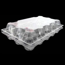 High quality 4, 8, 9, 10, 12, 15 , 30 packs clear plastic disposable egg tray