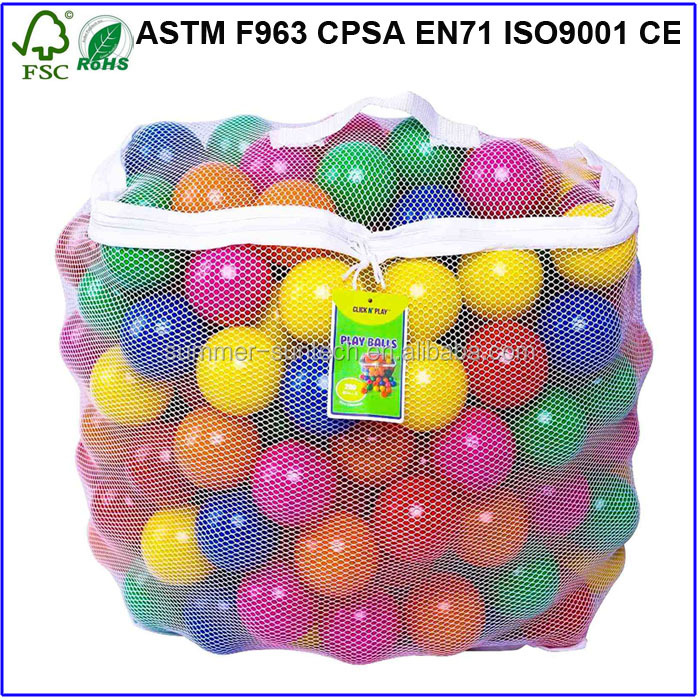 Plastic Play Ball Pit Balls Custom Colorful Plastic Balls for kids Non toxic
