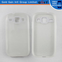 Simple Transparent Back Cover Case For Samsung I8262 TPU Case, For Galaxy I8262 TPU Case Back Cover Transparent