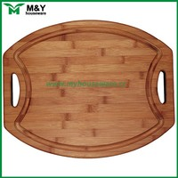 solid bamboo wood serving tray, antique cheap wood tray with handle