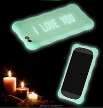 Spot Pudding Color Luminous Soft Silicone Rubber Phone Case Noctilucent Back Cover For Apple iPhone 5s 6s 6plus 6s plus