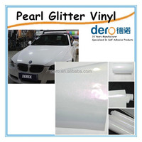 Popular pearl glitter vinyl film for car color change wrapping with low price