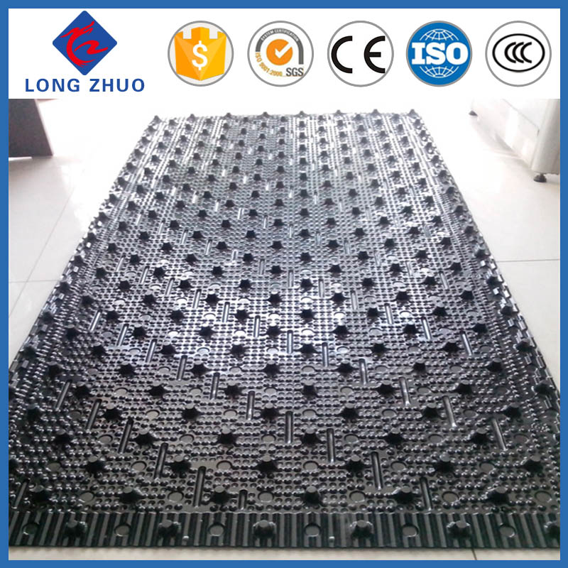 Rigid High Quality Black Sheets Cooling Tower PVC Fill 750mm for Cross Flow Cooling Tower
