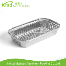 Oblong disposable aluminum foil pan