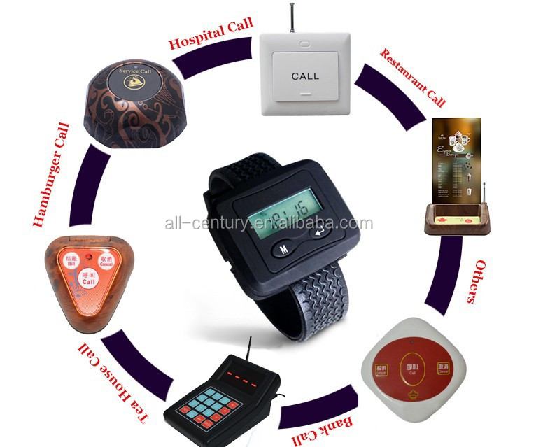 Wireless Calling System Waiter Server Paging System for Restaurant