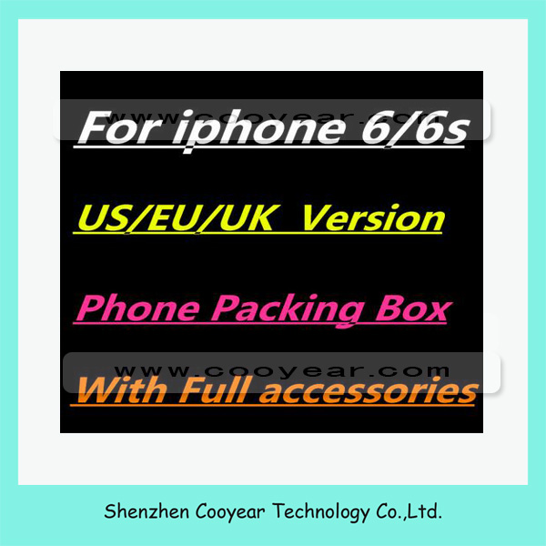 With accessories cell phone paper box for iphone 6 6s box with accessories 16GB