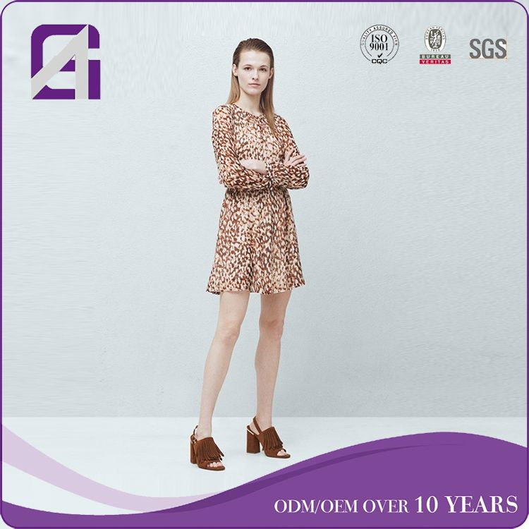 Custom service hot selling long sleeve fashion dress philippines for lady
