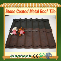 corrugated Aluminum zinc Stone Coated Metal Roof Tiles for villa stone tiles
