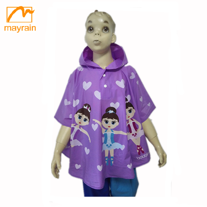 PVC plastic outdoor light poncho rain coat