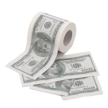 custom $100 dollar printed novelty toilet paper