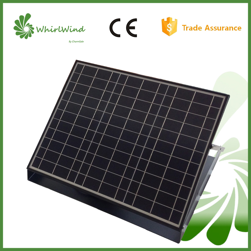 CharmSale Whirlwind 30W solar battery system, solar panel adjustable