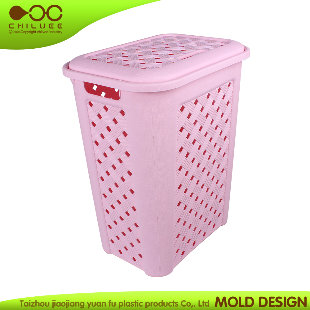 2016 hot sale plastic hand basket color bule nice design laundry basket