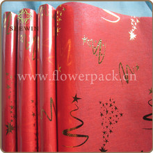 Red Bronze Non-Woven Paper Cheap Table Runners Roll For Christmas,Wedding,Festival