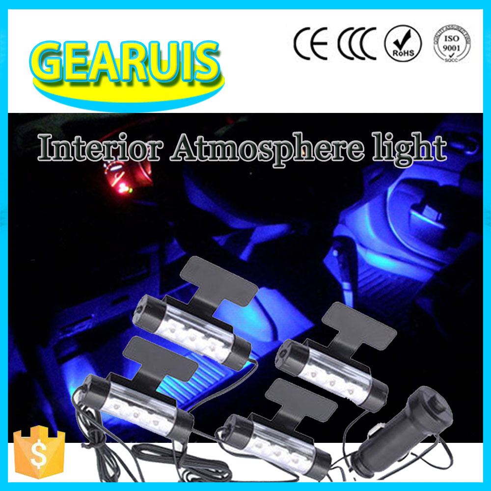 Creative fashion Car interior atmosphere Light Bulb lamp 12V 12 LED 3 LED *4 car decoration led Auto Blue white