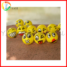 BIg Happy Face Fun Emoji Hand Wrist Finger Exercise Stress Relief Therapy Squeeze Ball