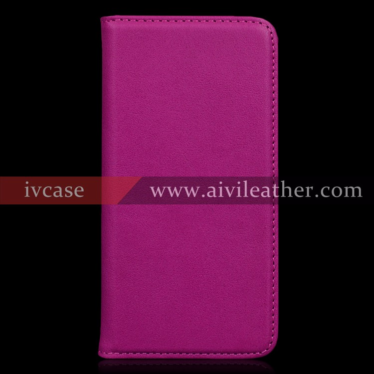 For Iphone 7 Wallet Case with Cute Pink Leather