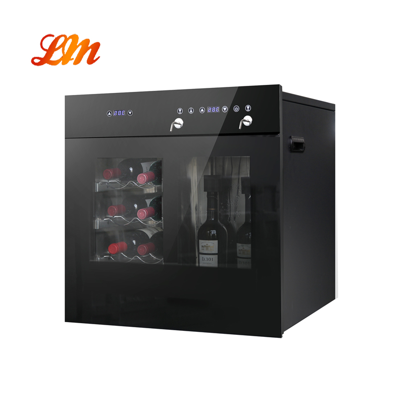 Built In, Wall Or Cabinet Mounted Wine Dispenser With Wine Cooler Function