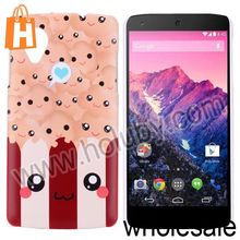 Cute Faces Pattern Hard PC Protective Back Cover Case for LG Nexus 5
