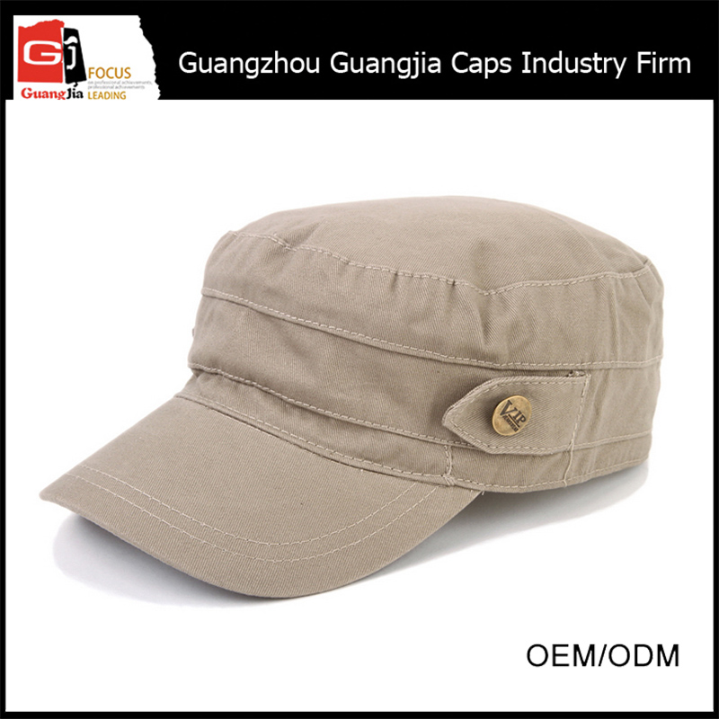 Guangjia Cap Manufacturer Wholesale Plain Custom Military Caps Hats