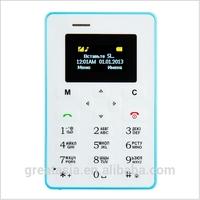 Russian Keyboard AIEK M5 Card Cell Phone 4.5mm Ultra Thin Pocket Mini Phone Quad Band Low Radiation AEKU M5 Card mobile Phone