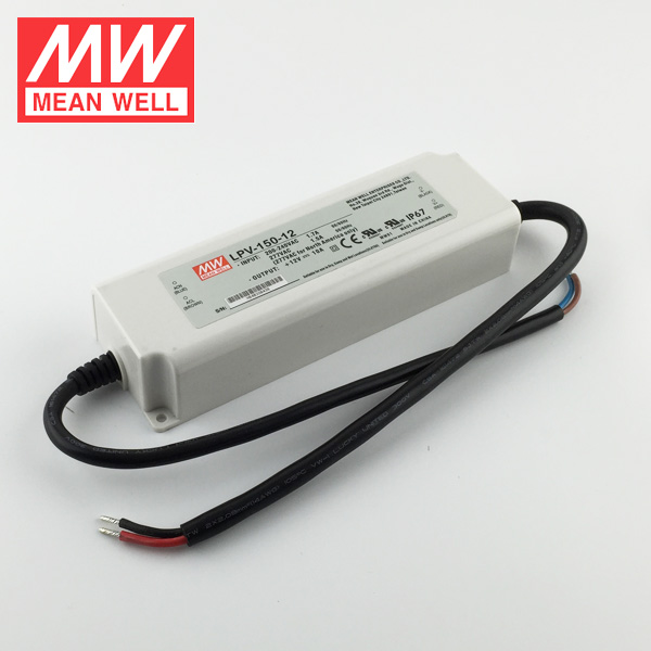 Meanwell LED Strip Light Slim LED Power Supply LPV-150-12 IP67 12V 10A 120W LED Driver
