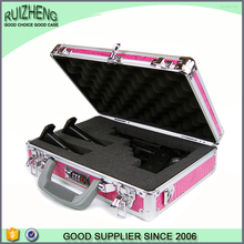 OEM hight quality pink PU leather gun case