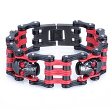 Stainless Steel Motorcycle Chain Skull Bracelets Bangkok Jewelry