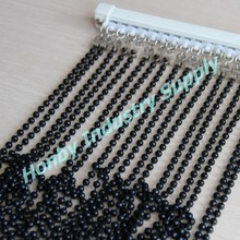6mm pearl black hanging door beads curtain