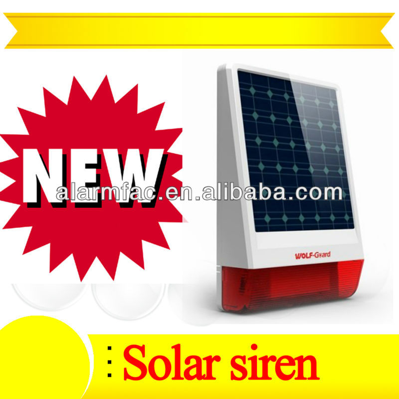 wireless solar alarm industrial horn siren