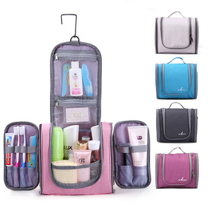 Travelsky Custom plain hanging clear make up cosmetic toiletry travel bag for women