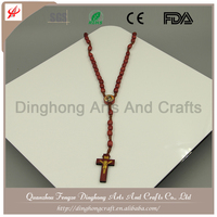 Wholesale Gemstone Designer Rosary For Sale Free Wooden Cross Necklace