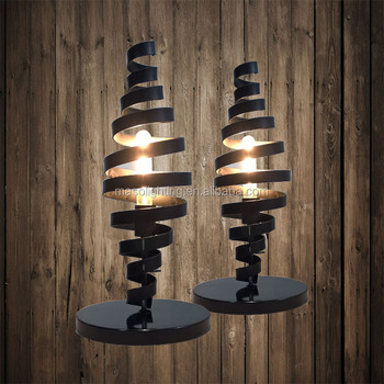 2017 New Design Tornado Iron Table Lamp Bar Club Home Restaurant Cafe Industrial vintage Decorative Metal Rustic Table Light
