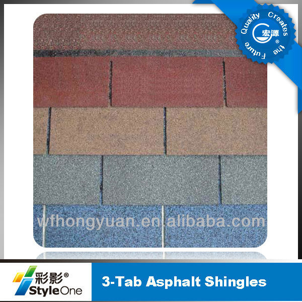 Colorful asphalt shingles manufacturer(low cost, high quality)