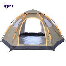 Instant Family Tent 6 Person Large Automatic Pop Up Tents Waterproof for Outdoor Sports Camping Hiking Travel Beach with Zippere