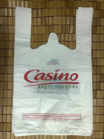 T-shirt carry out plastic grocery bags 100% Recyclable