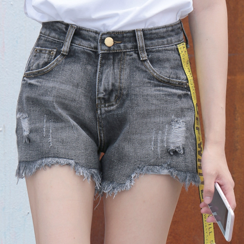 High quality lady short jeans <strong>100</strong>% cotton hot shorts jeans for women