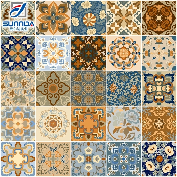 Sunnda flower pattern ceramics tile,talavera porcelain wall and floor tiles